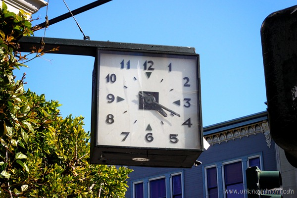 Clock that always reads 4 20 on Haight Street