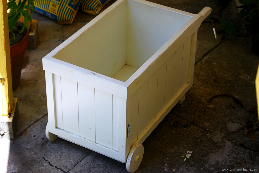DIY: Turn a Wooden Toy Box into a Flower Box - Unknown ...