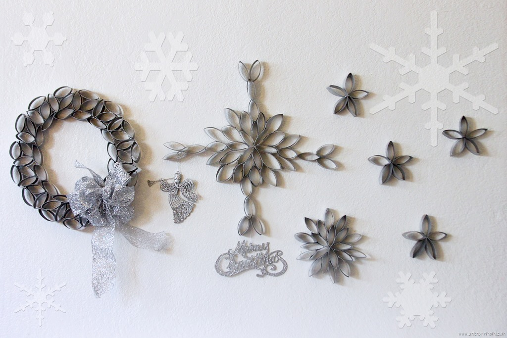 Diy snowflakes out of toilet paper rolls unknown mami by claudya