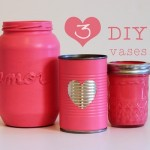 DIY vases out of cans and jars