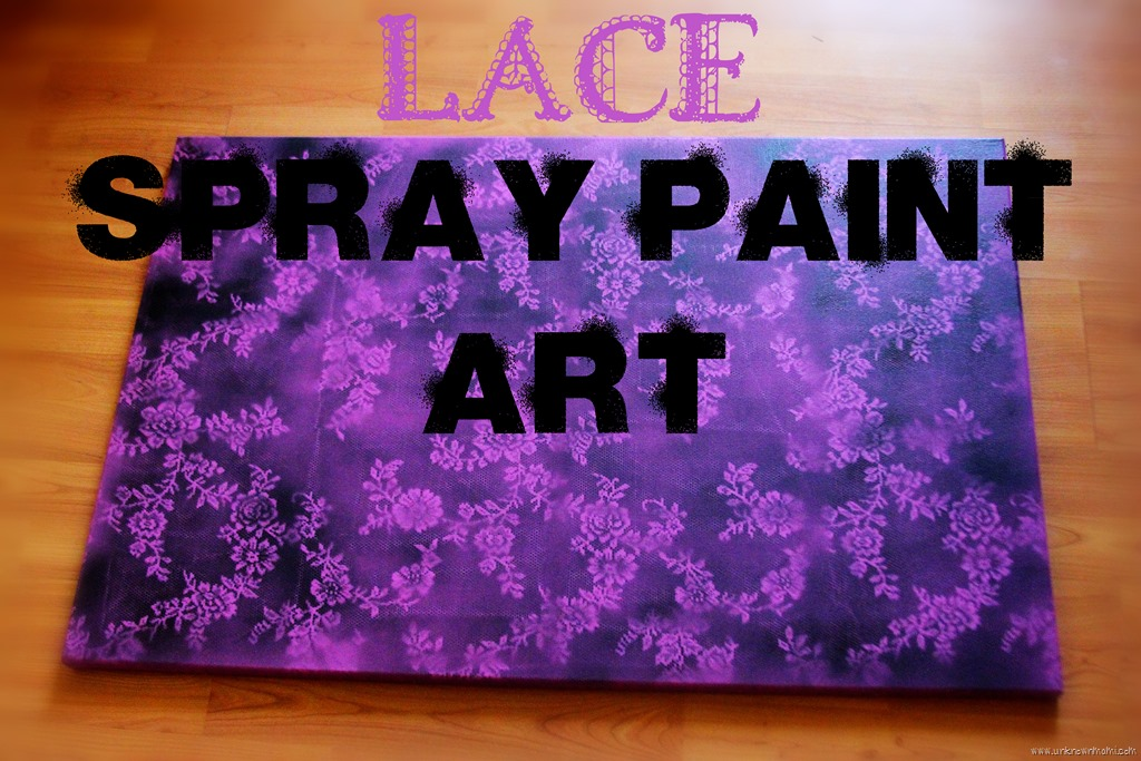 lace spray paint art on canvas unknownmami. Black Bedroom Furniture Sets. Home Design Ideas