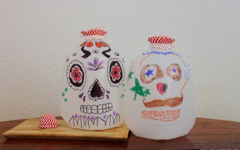 DIY: Sugar Skull Milk Jug