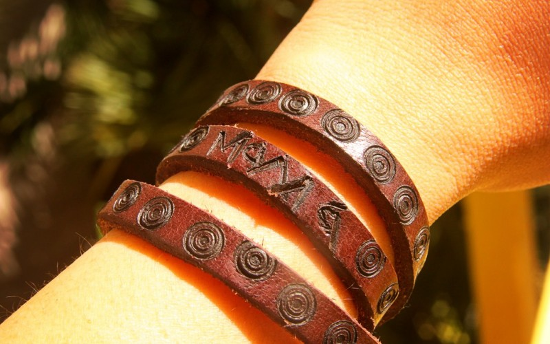 DIY: Personalized Leather Bracelet Craft