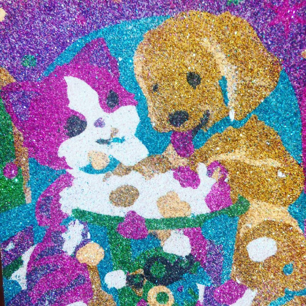 My first glitter by numbers opus glitter glitterbynumbers paintbynumbers artbynumbers