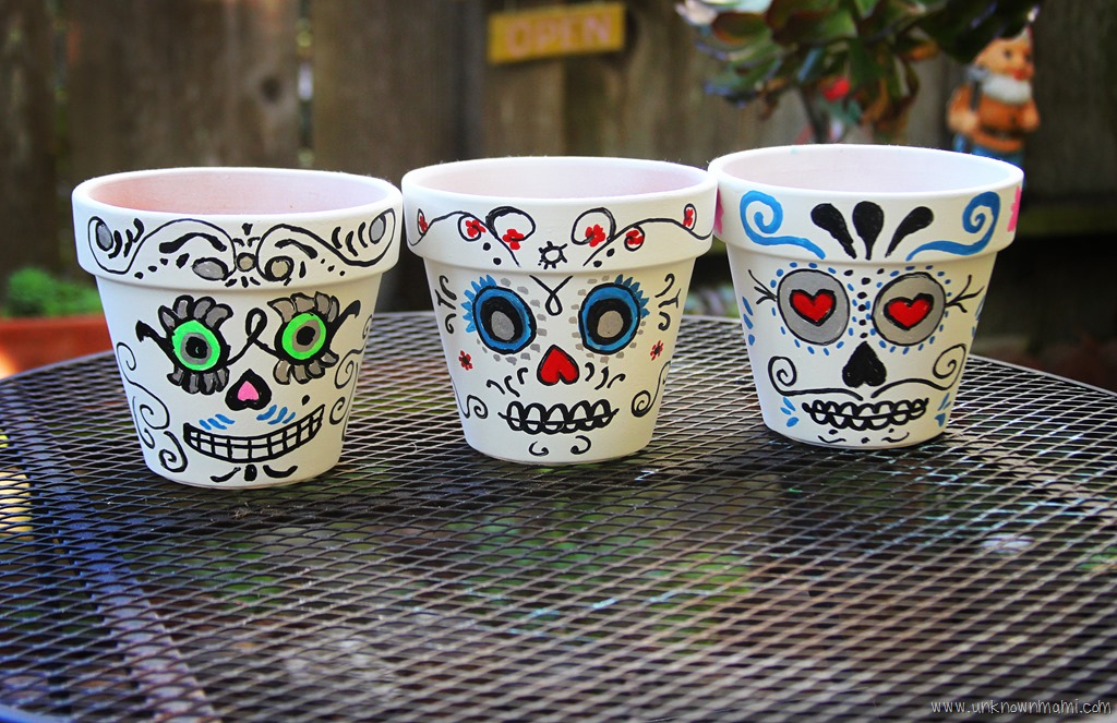 DIY: Day of the Dead Sugar Skull Planters - Unknown Mami ...