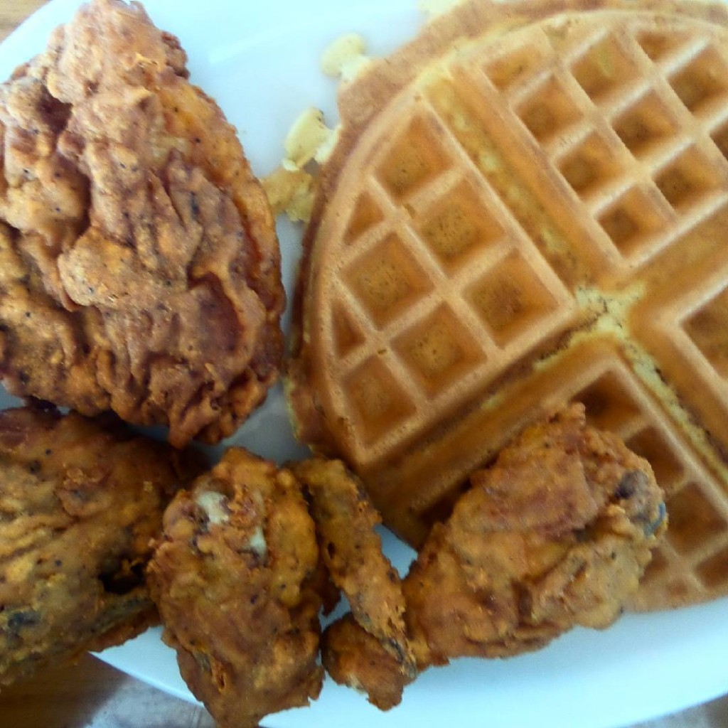 First chickenandwaffles of the new year boulevardcafe