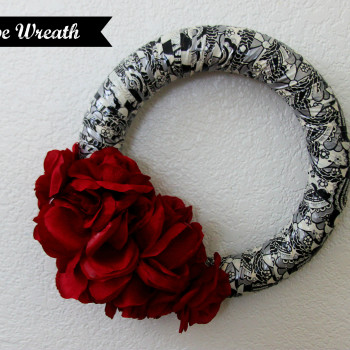Duct tape wreath