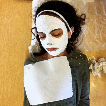 Plaster cloth mask making