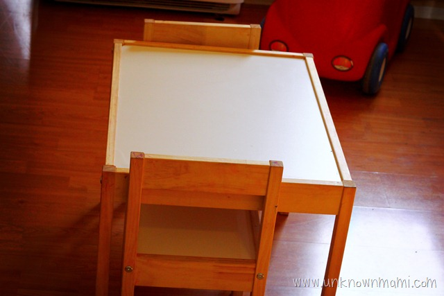DIY Kids' Table with Chalkboard Paint