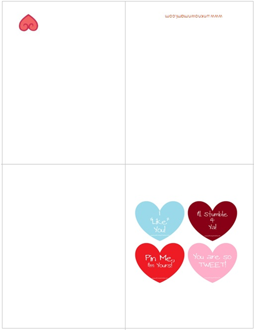 free valentine�s day cards printable unknown mami