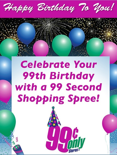 99 cent store promo