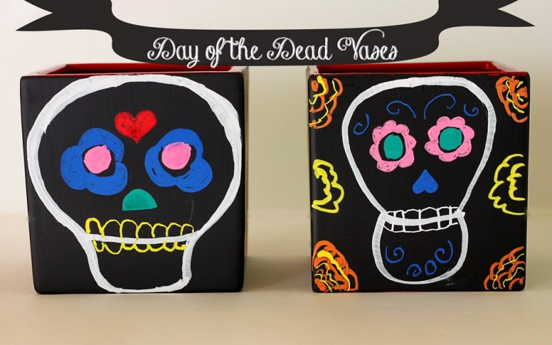 Day of the Dead (DIY Chalkboard Vases)