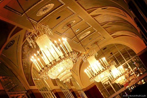 Beautiful ceiling at Waldorf Astoria