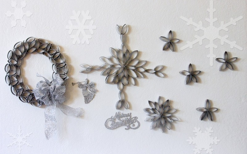 DIY: Snowflakes Out of Toilet Paper Rolls