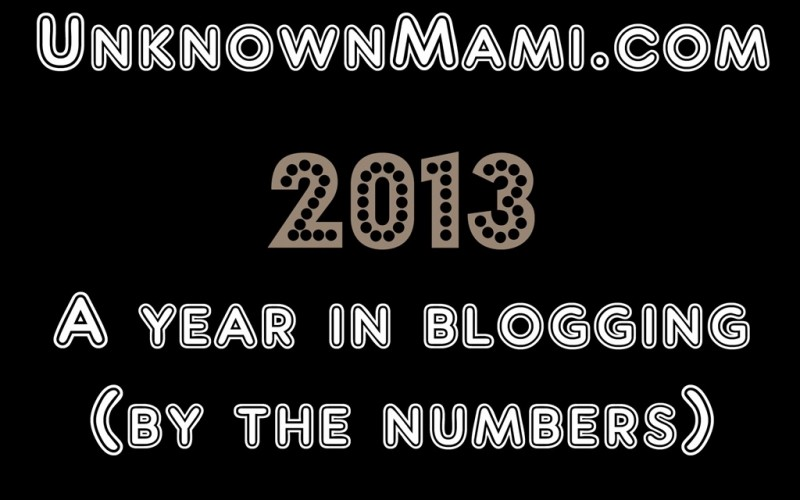 UnknownMami.com a Year in Review by the Numbers (2013)