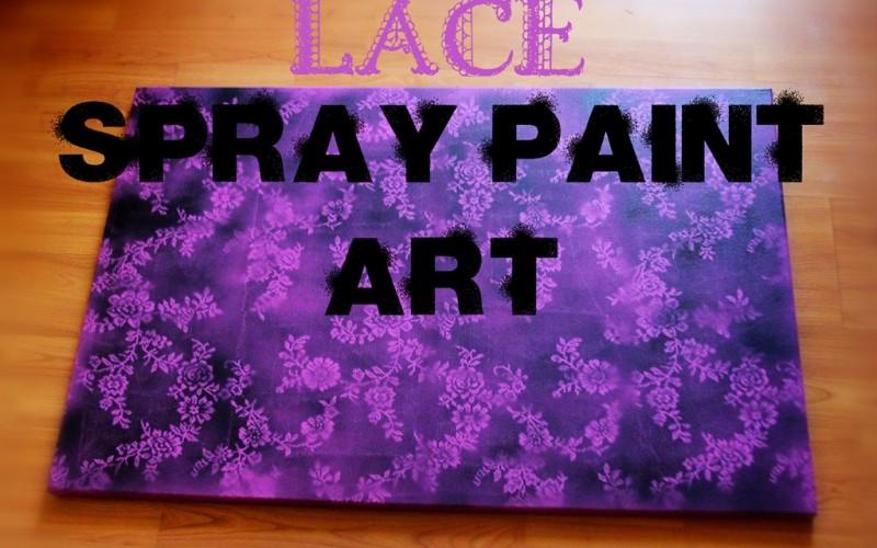 Lace Spray Paint Art