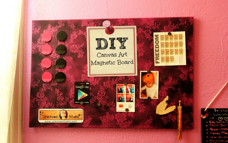 DIY Magnetic Board out of Canvas Art