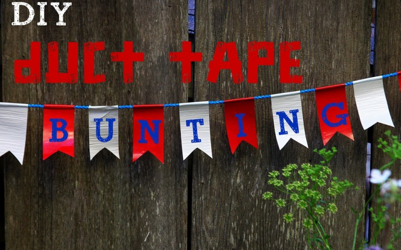 DIY Duct Tape Bunting