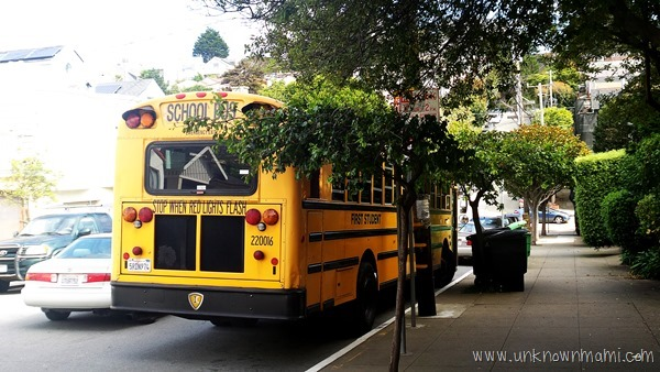 School bus...Things I learned this back to school season