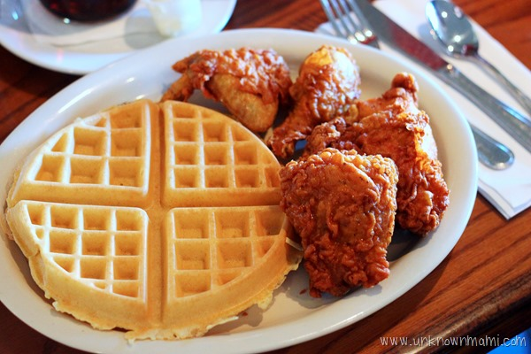 Chicken and waffles at The Boulevard Cafe