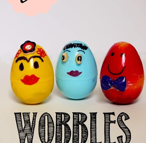 DIY: Wobble Dolls out of Plastic Easter Eggs