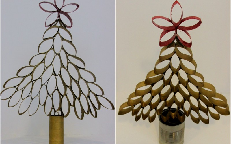 DIY: Toilet Paper Roll Christmas Tree