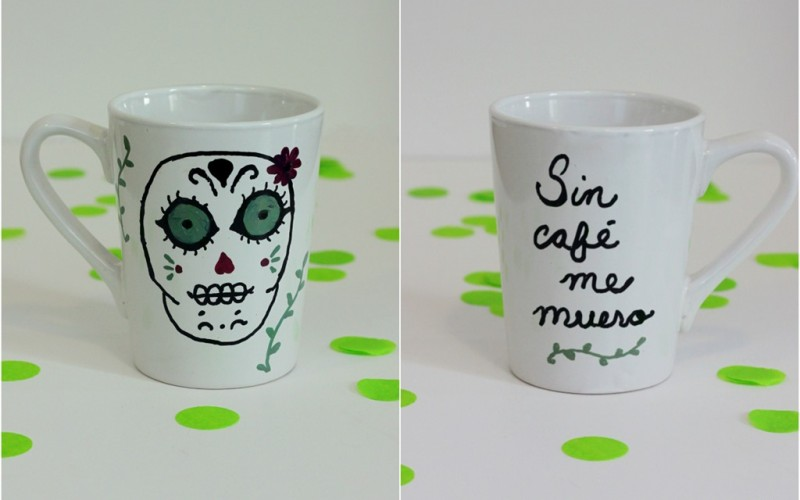DIY: Painted Mug and Coffee Gift Idea
