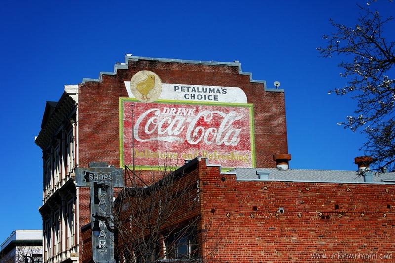 Coca Cola sign in Petaluma