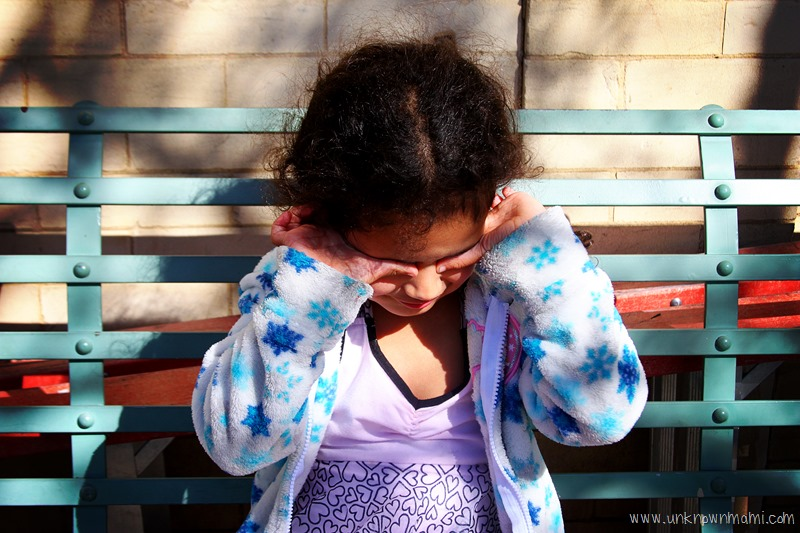 Little girl on Petaluma bench