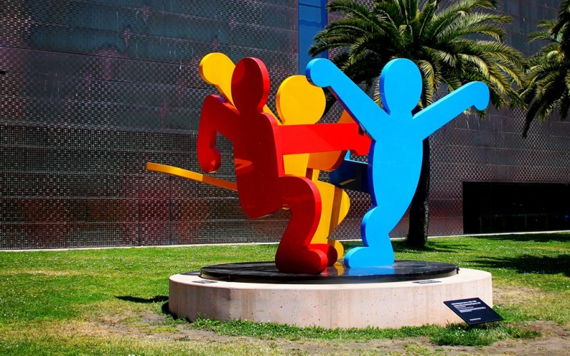 Three Dancing Figures by Keith Haring and Two Great Videos About the Artist (Sundays In My City)