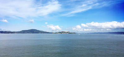 Alcatraz as seen from Fort Mason